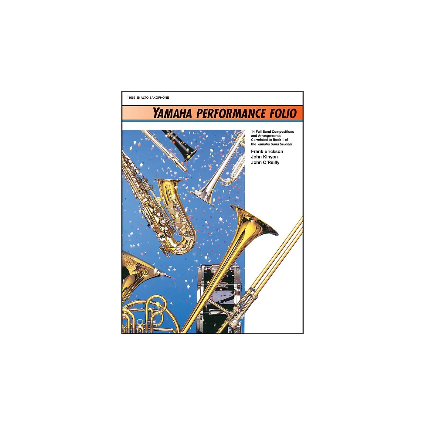 Alfred Yamaha Performance Folio E-Flat Alto Saxophone thumbnail