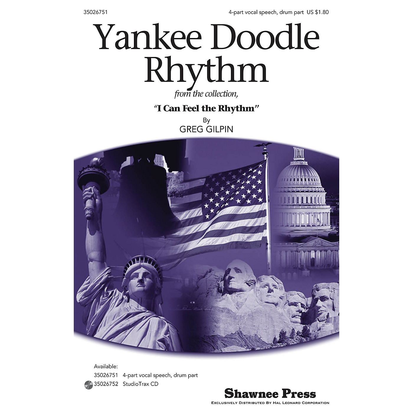 Shawnee Press Yankee Doodle Rhythm 4PT VOCAL SPEECH, DRUM composed by Greg Gilpin thumbnail