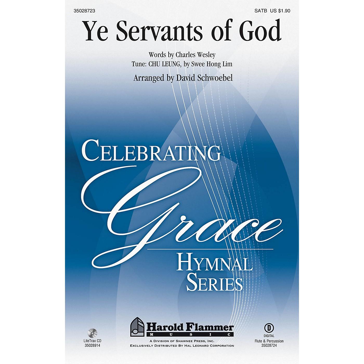 Shawnee Press Ye Servants of God SATB arranged by David Schwoebel thumbnail