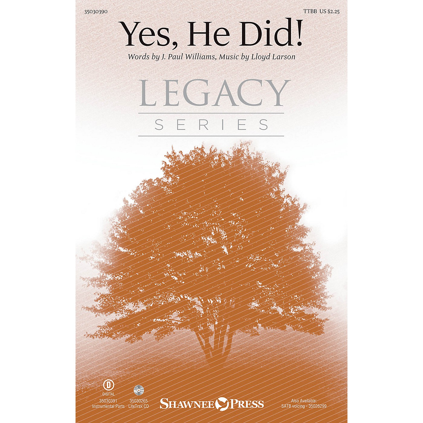 Shawnee Press Yes, He Did! TTBB composed by Lloyd Larson thumbnail