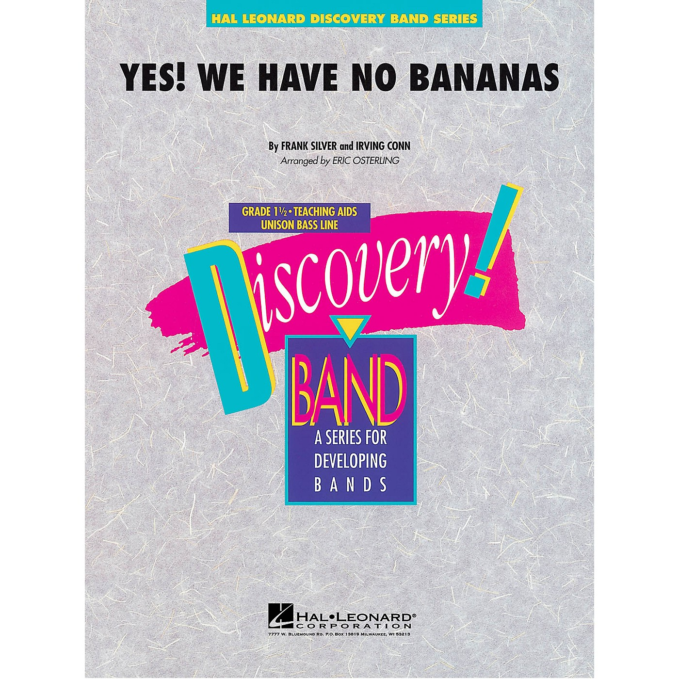 Hal Leonard Yes! We Have No Bananas Concert Band Level 1.5 Arranged by Eric Osterling thumbnail