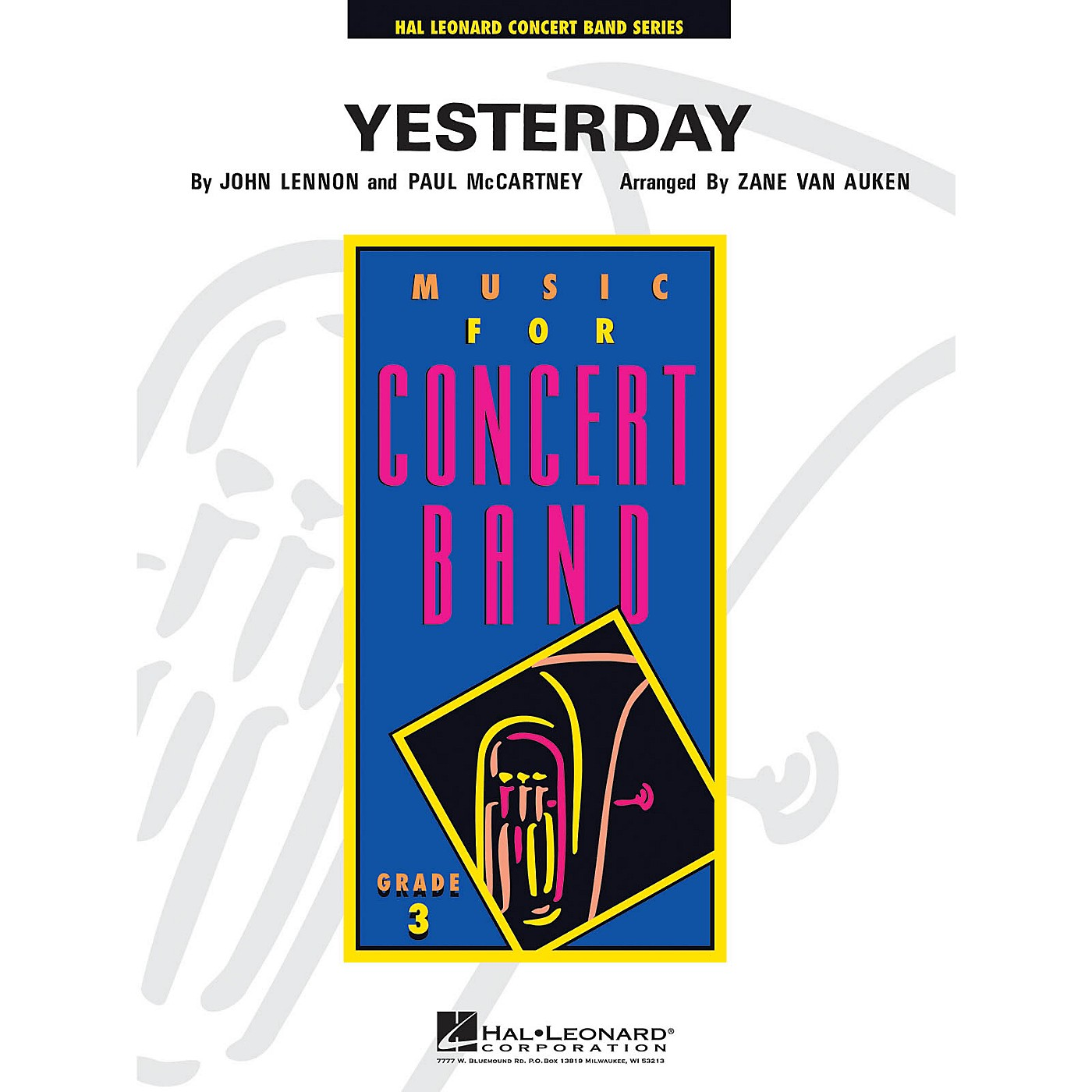 Hal Leonard Yesterday - Young Concert Band Level 3 arranged by Zane Van Auken thumbnail