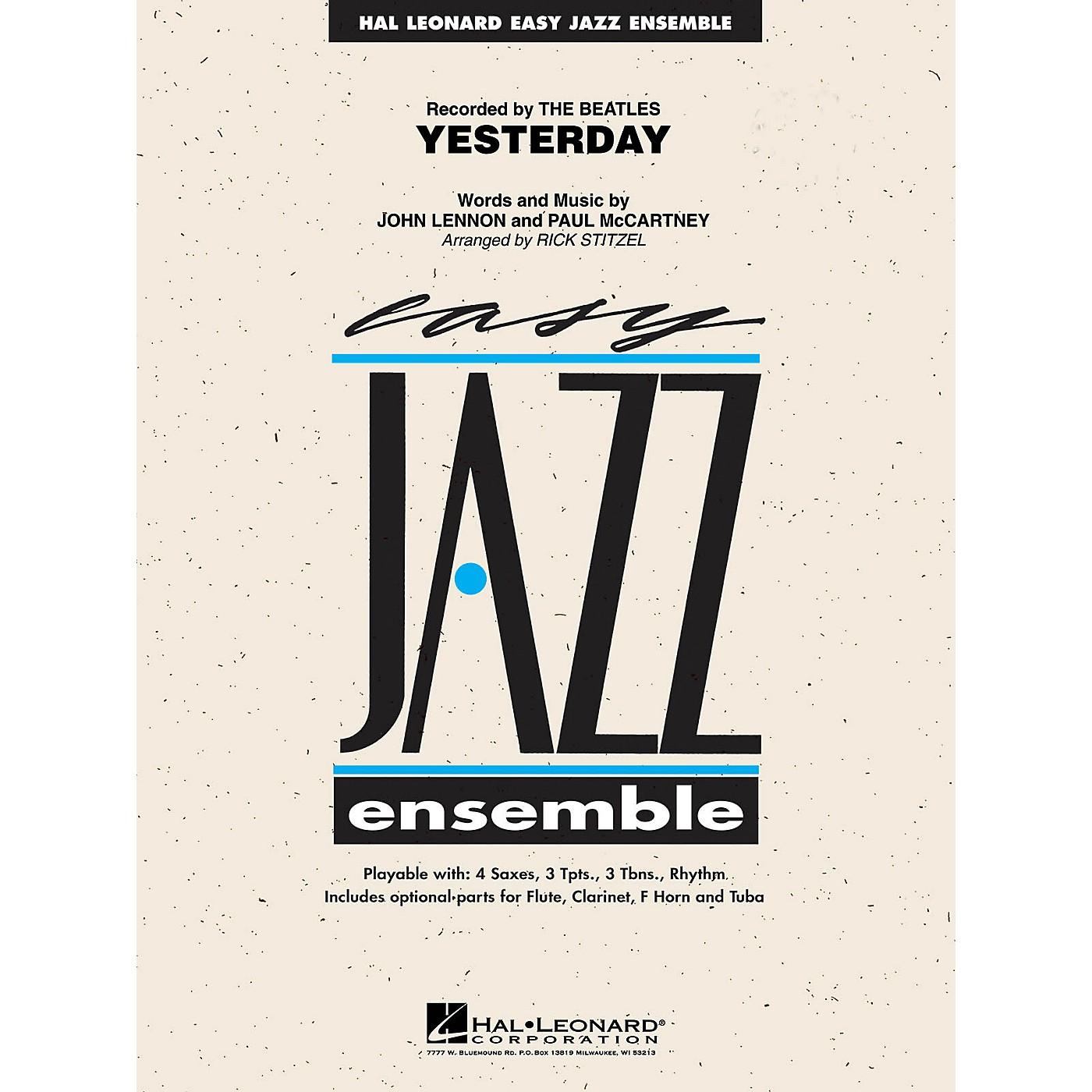 Hal Leonard Yesterday Jazz Band Level 2 Arranged by Rick Stitzel thumbnail