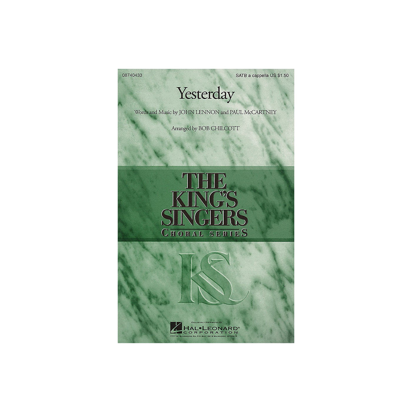 Hal Leonard Yesterday SATB a cappella by The King's Singers arranged by Bob Chilcott thumbnail