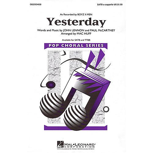 Hal Leonard Yesterday TTBB A Cappella by Boyz II Men Arranged by Mac Huff thumbnail