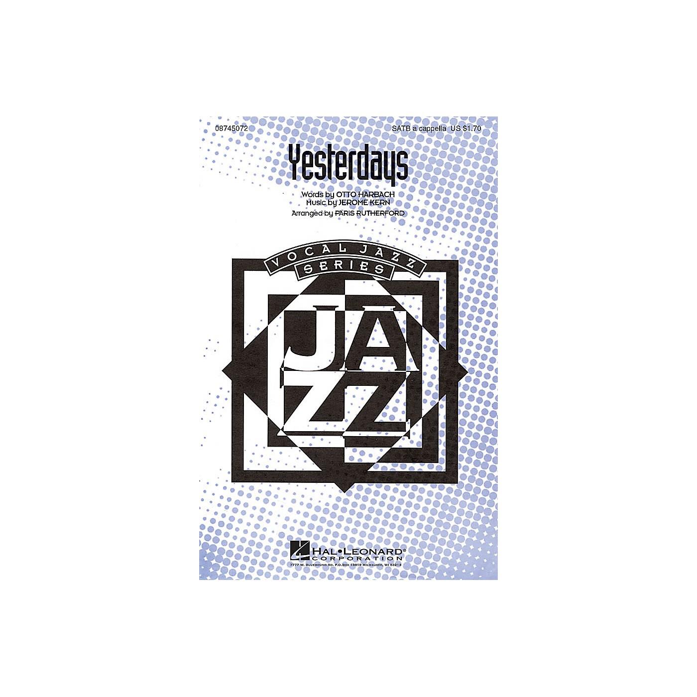 Hal Leonard Yesterdays SATB a cappella arranged by Paris Rutherford thumbnail