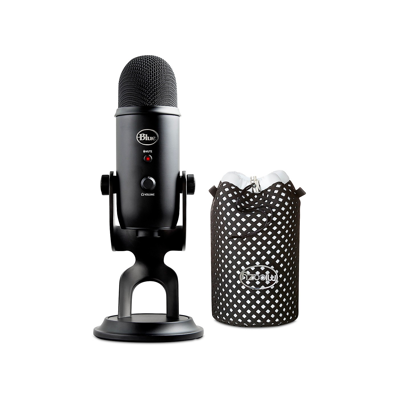 BLUE Yeti Blackout Studio Black Bundle w/ Jupiter Micozy Mic Cover thumbnail