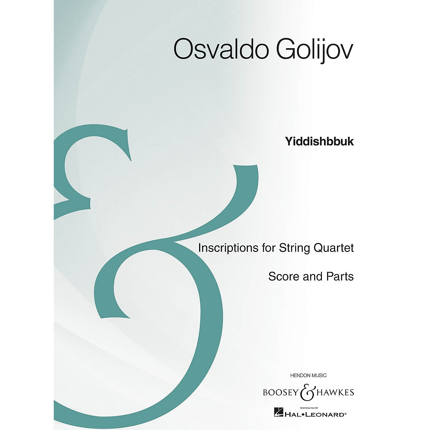 Boosey and Hawkes Yiddishbbuk (String Quartet Archive Edition) Boosey & Hawkes Chamber Music Series by Osvaldo Golijov thumbnail