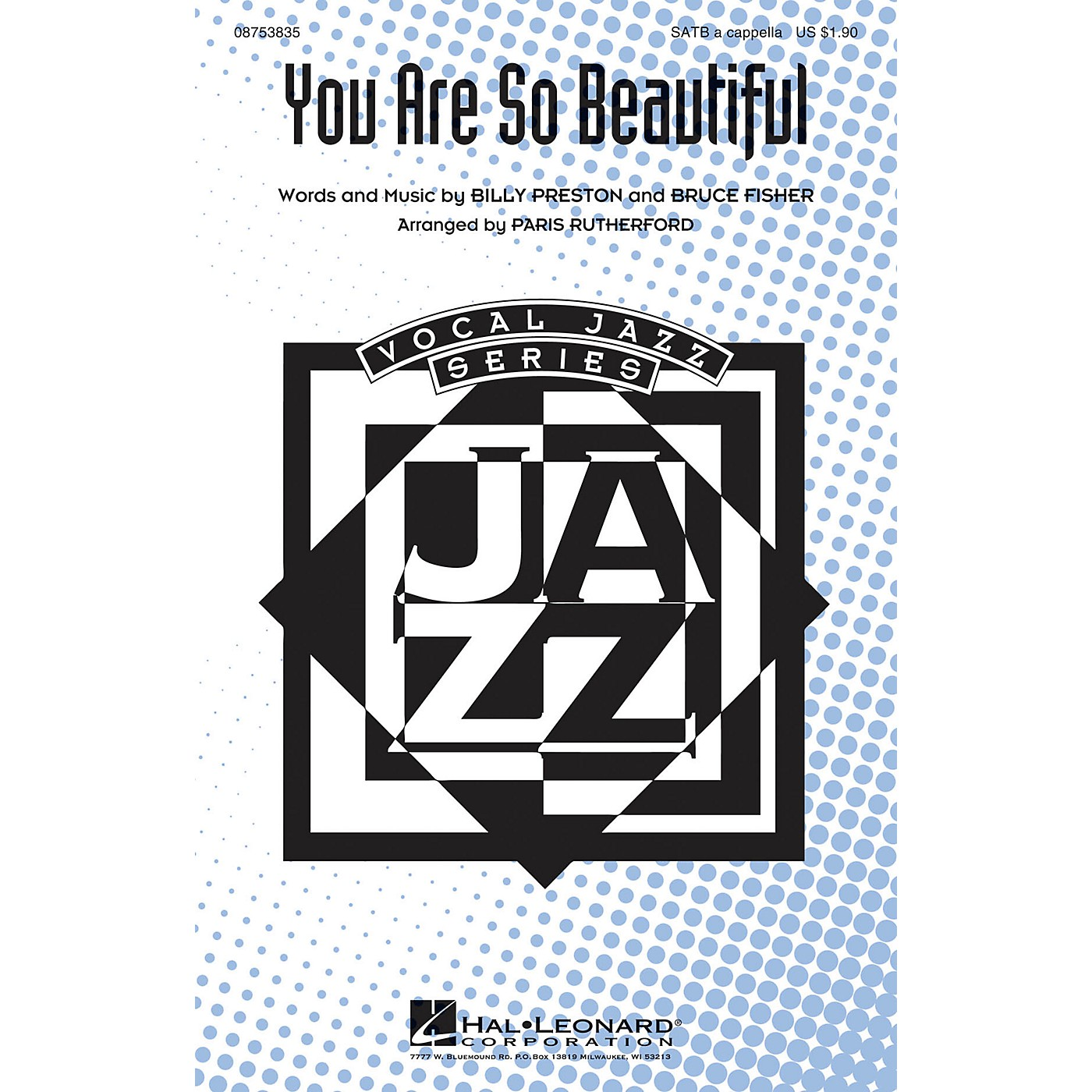 Hal Leonard You Are So Beautiful SATB a cappella arranged by Paris Rutherford thumbnail