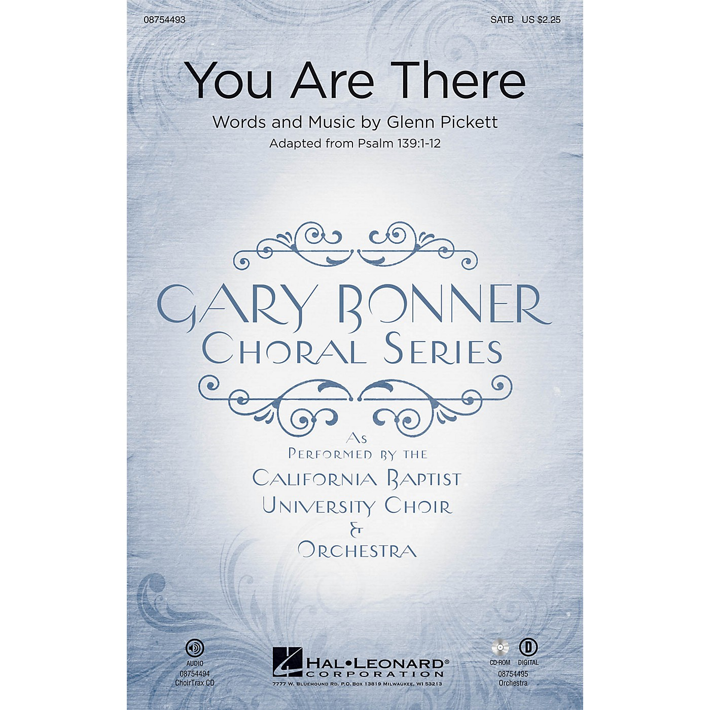 Hal Leonard You Are There (Gary Bonner Choral Series) SATB Divisi composed by Glenn A. Pickett thumbnail