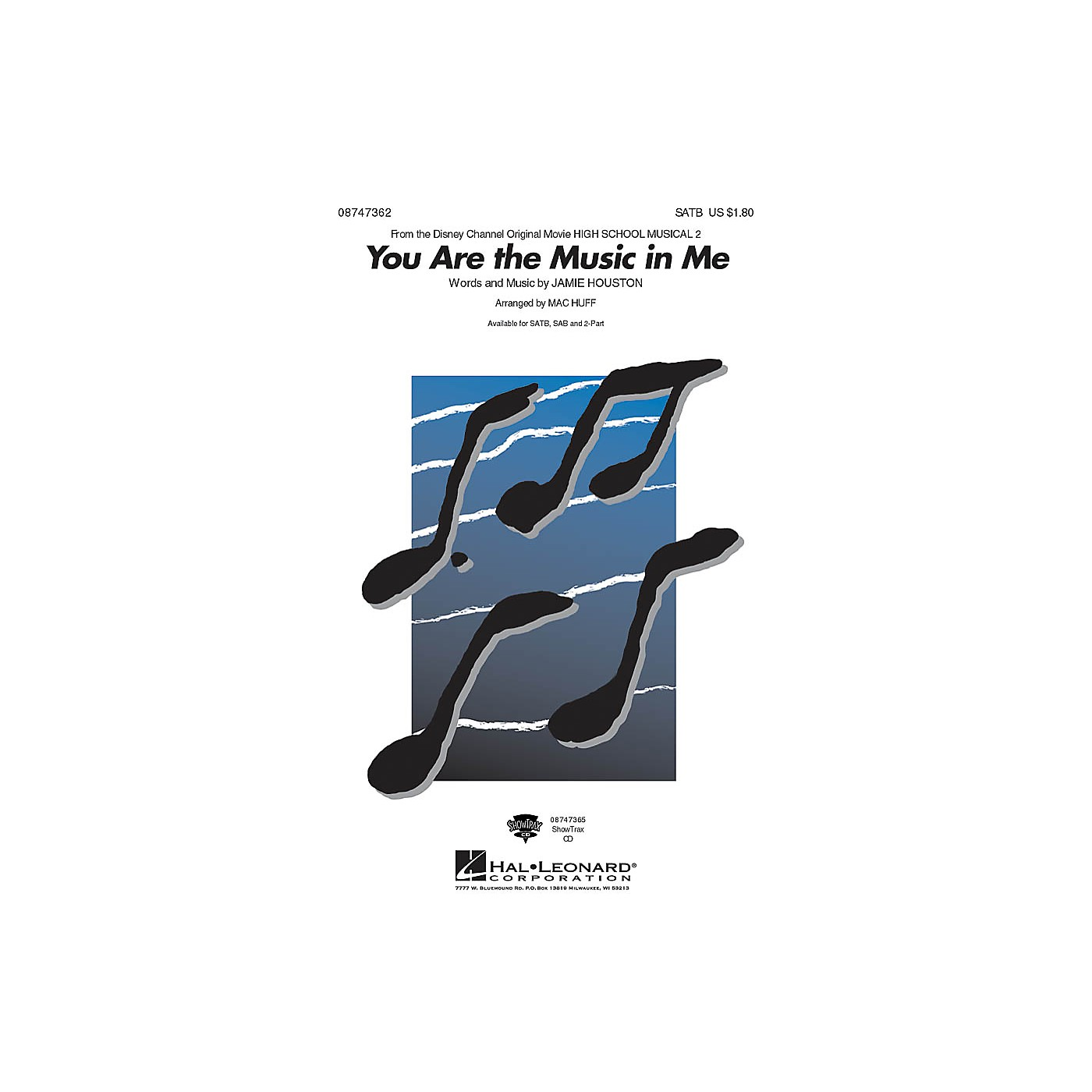 Hal Leonard You Are the Music in Me 2-Part Arranged by Mac Huff thumbnail