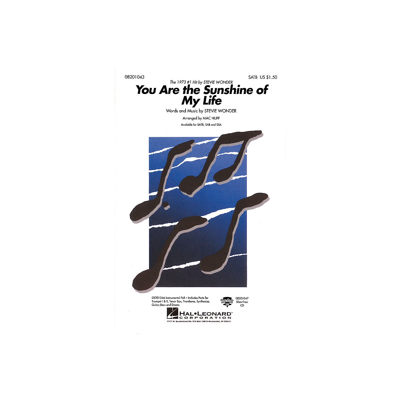 Hal Leonard You Are the Sunshine of My Life Combo Parts by Stevie Wonder Arranged by Mac Huff thumbnail