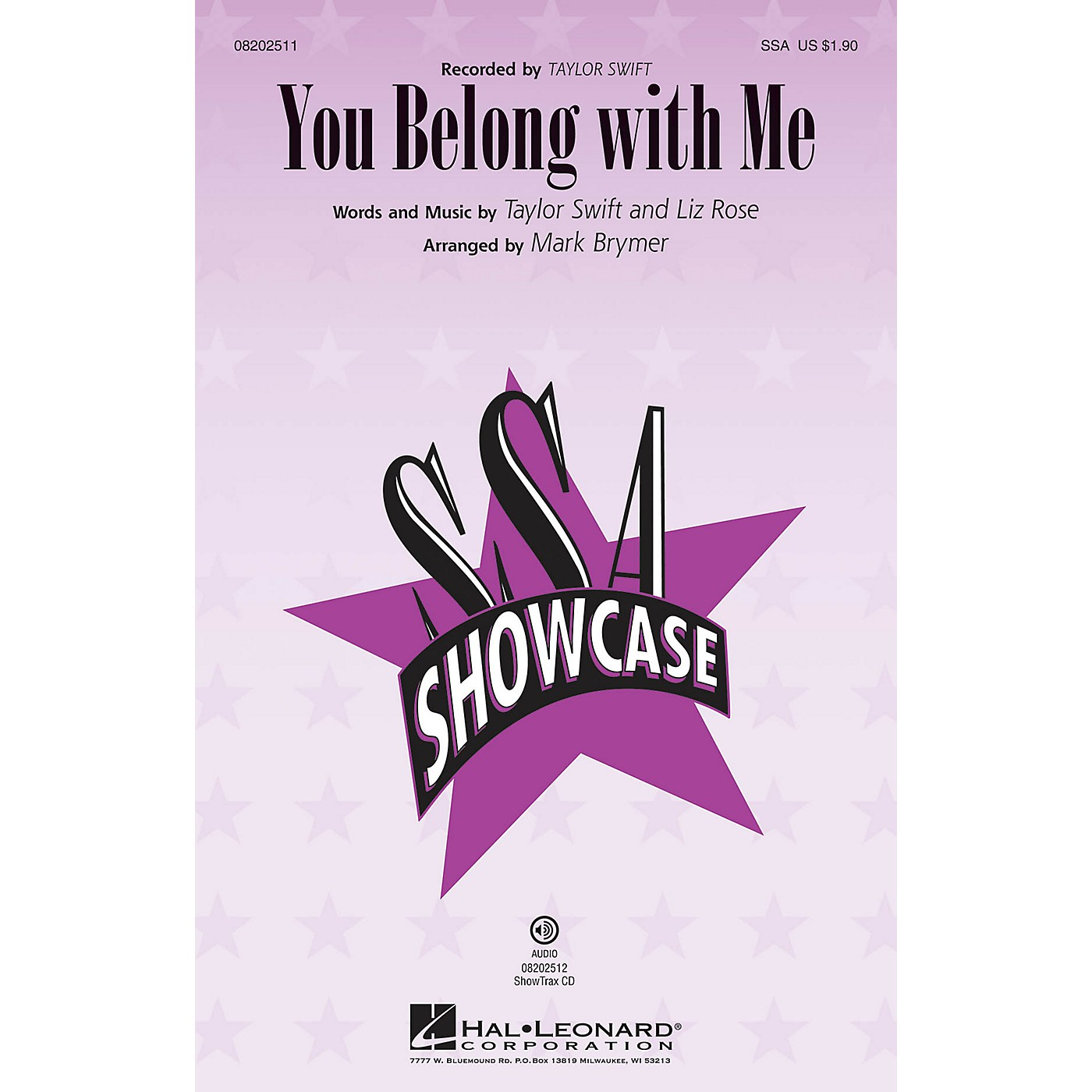 Hal Leonard You Belong with Me ShowTrax CD by Taylor Swift Arranged by Mark Brymer thumbnail
