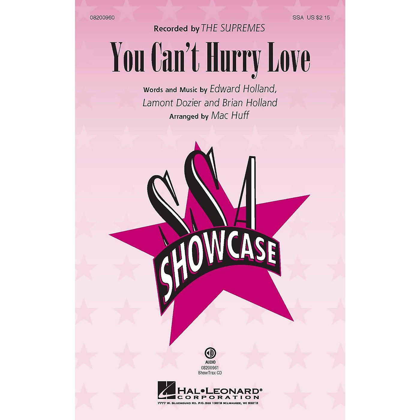 Hal Leonard You Can't Hurry Love ShowTrax CD by The Supremes Arranged by Mac Huff thumbnail