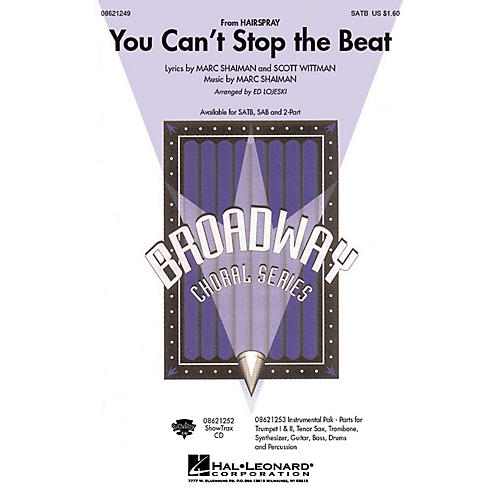 Hal Leonard You Can't Stop the Beat Combo Parts Arranged by Ed Lojeski thumbnail
