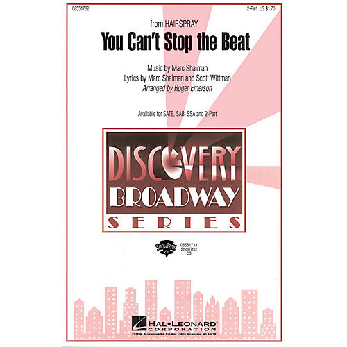 Hal Leonard You Can't Stop the Beat (from Hairspray) SATB arranged by Roger Emerson thumbnail