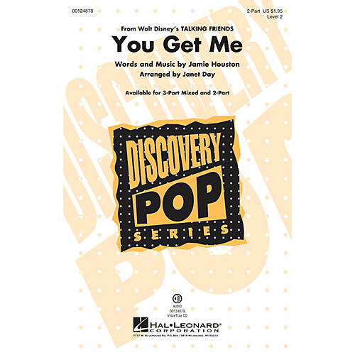 Hal Leonard You Get Me (from Disney's Talking Friends) (Discovery Level 2) 2-Part arranged by Janet Day thumbnail