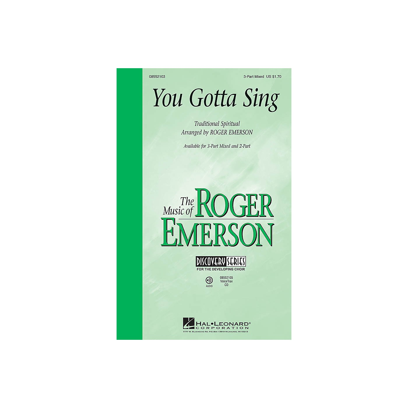 Hal Leonard You Gotta Sing (Discovery Level 1) VoiceTrax CD Arranged by Roger Emerson thumbnail