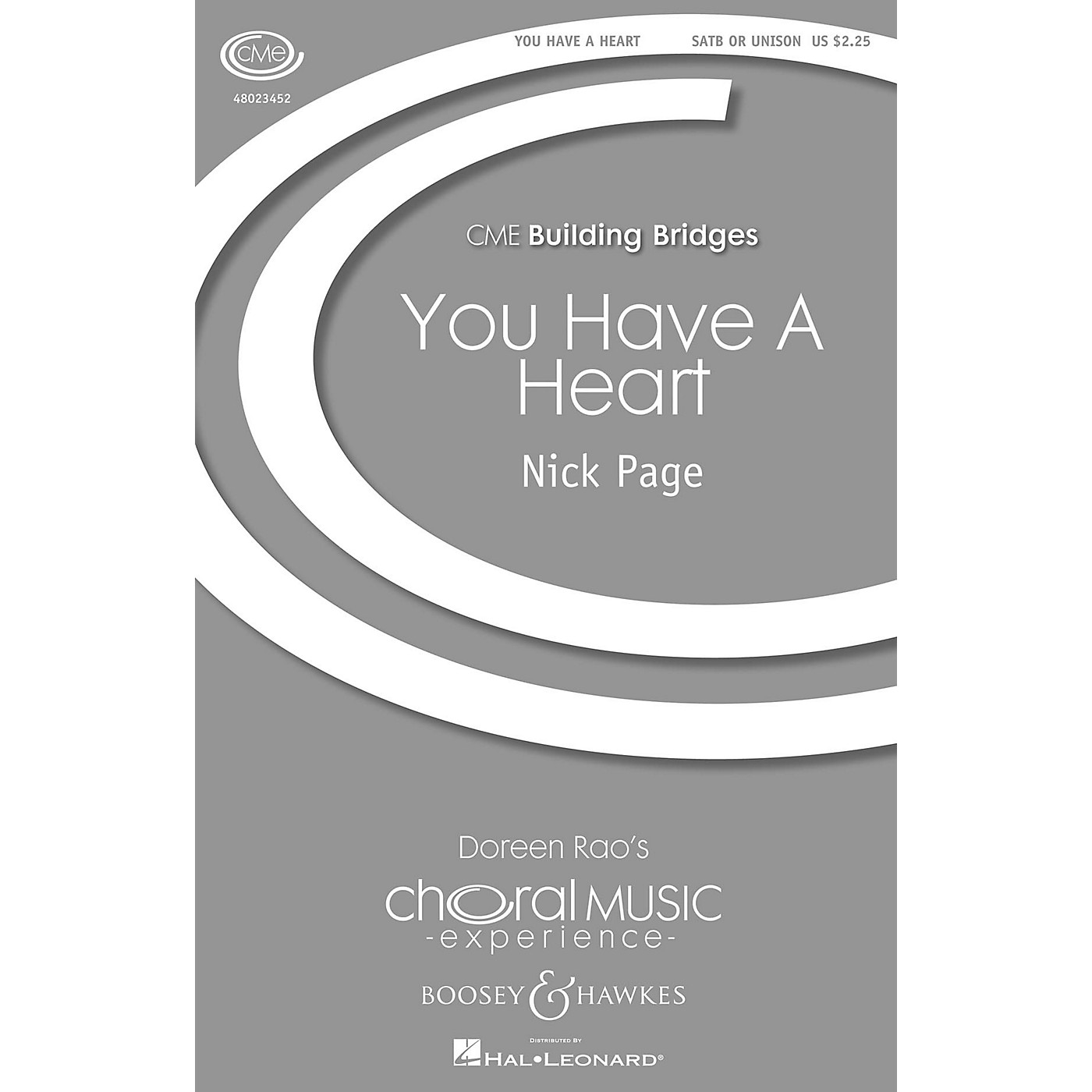 Boosey and Hawkes You Have A Heart (CME Building Bridges) SATB composed by Nick Page thumbnail