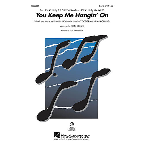 Hal Leonard You Keep Me Hangin' On SATB by The Supremes arranged by Mark Brymer thumbnail