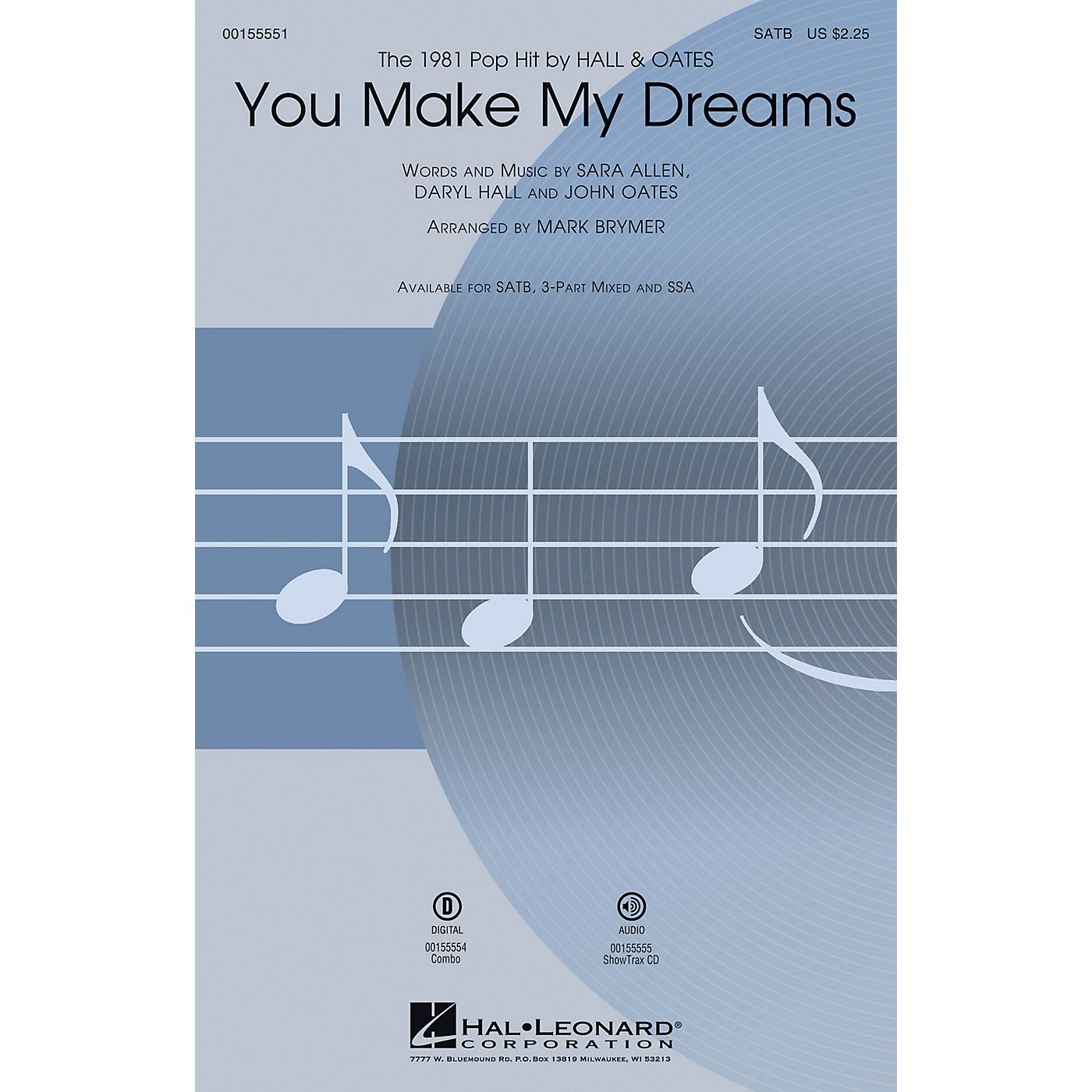 Hal Leonard You Make My Dreams 3-Part Mixed by Hall & Oates Arranged by Mark Brymer thumbnail