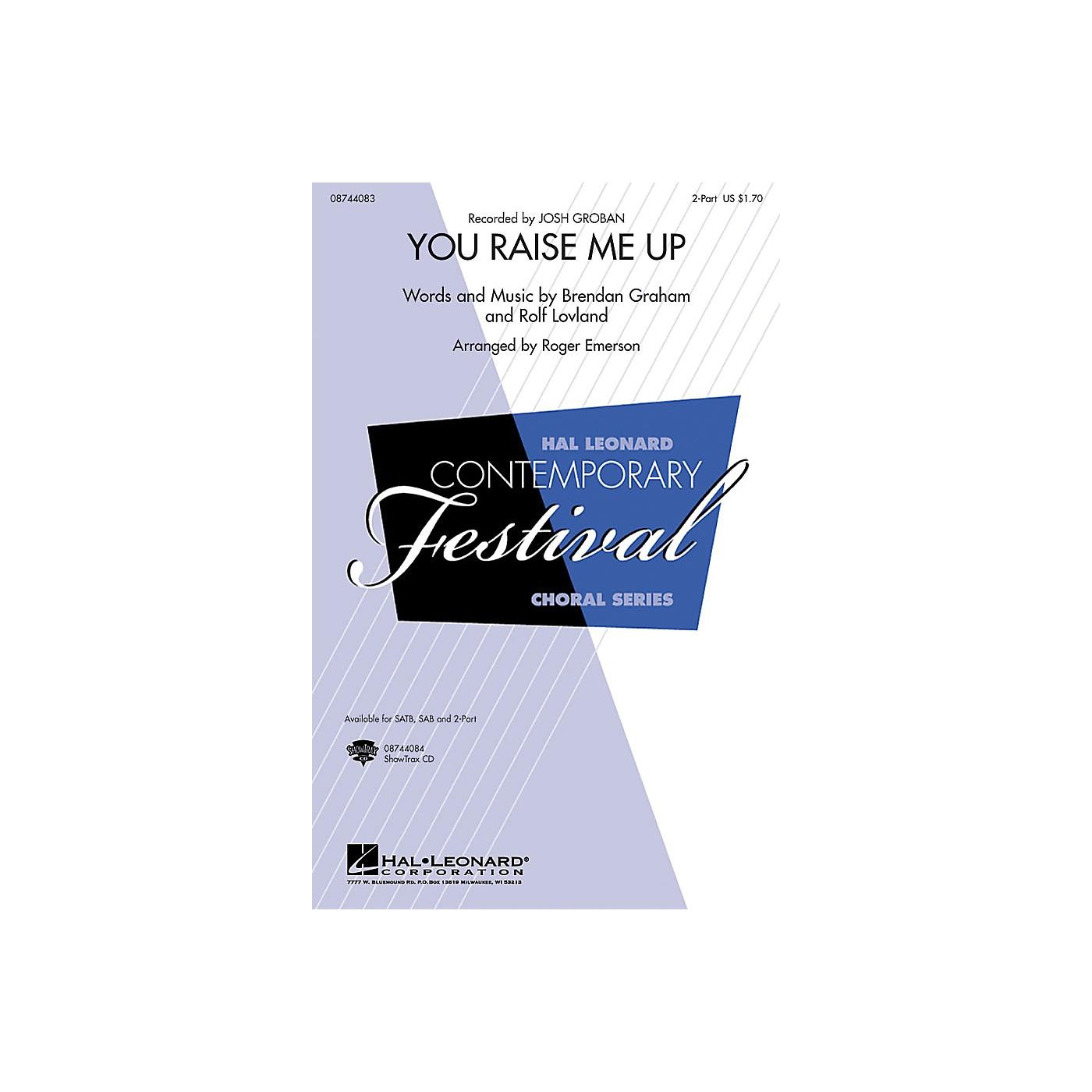 Hal Leonard You Raise Me Up 2-Part by Josh Groban arranged by Roger Emerson thumbnail