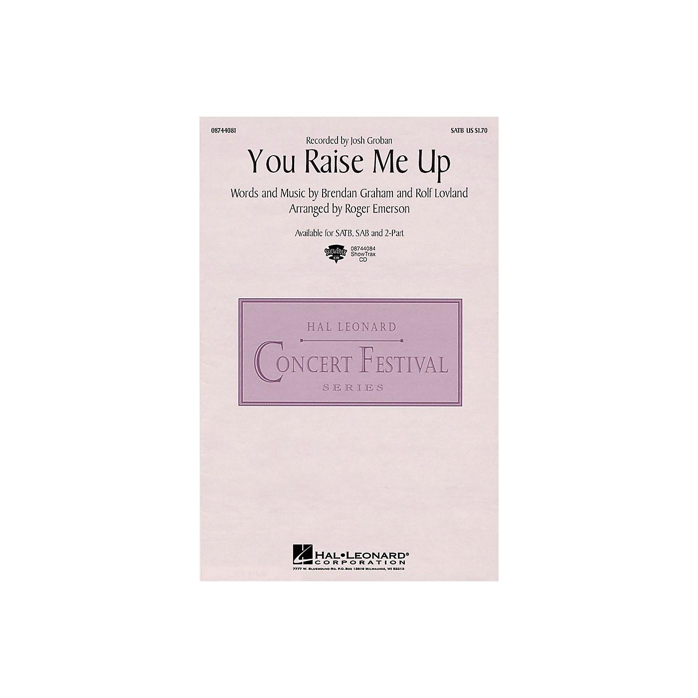 Hal Leonard You Raise Me Up SATB by Josh Groban arranged by Roger Emerson thumbnail