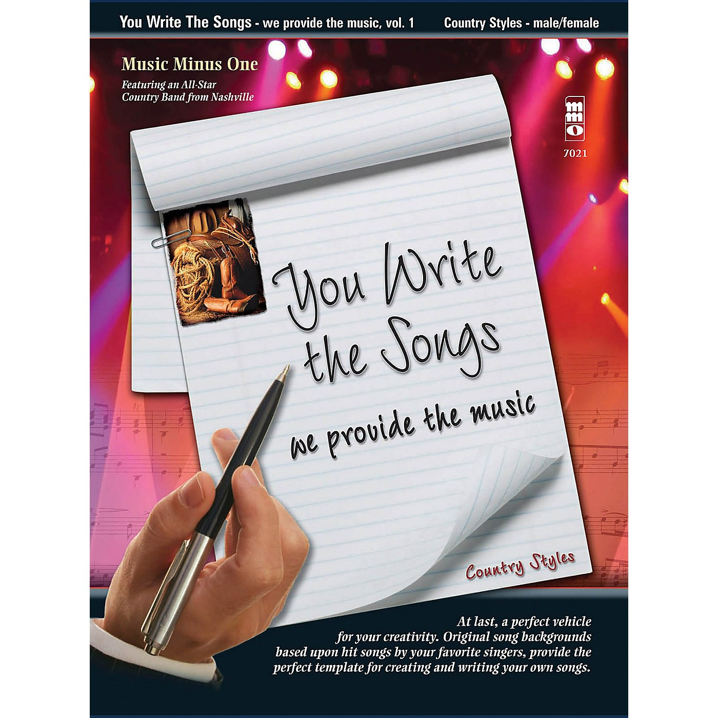 Music Minus One You Write the Songs, Vol. 1: Country Styles Music Minus One Series Softcover with CD thumbnail