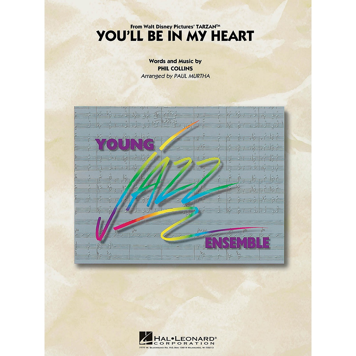 Hal Leonard You'll Be in My Heart Jazz Band Level 3 by Phil Collins Arranged by Paul Murtha thumbnail