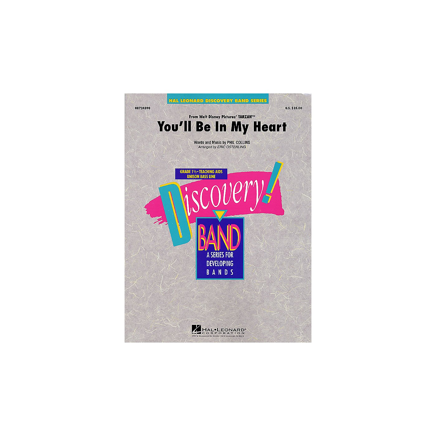 Hal Leonard You'll Be in My Heart (Pop Version) Concert Band Level 1 1/2 Arranged by Eric Osterling thumbnail