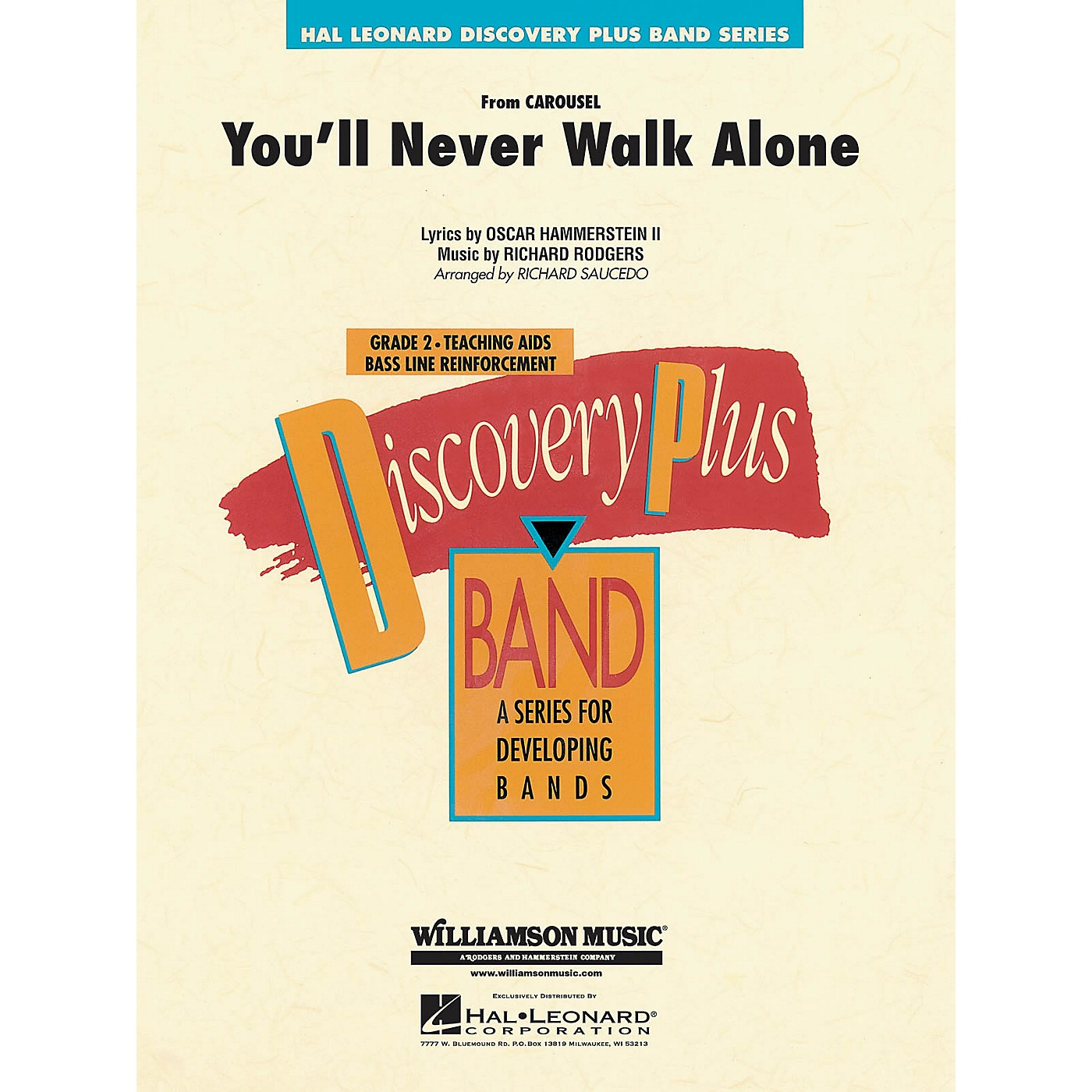 Hal Leonard You'll Never Walk Alone (from Carousel) - Discovery Plus Concert Band Series Level 2 arranged by Saucedo thumbnail