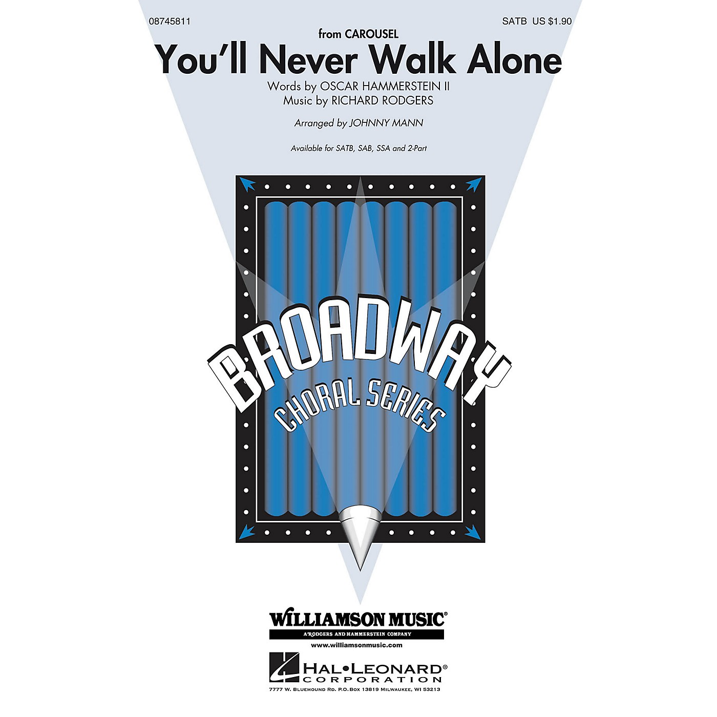 Hal Leonard You'll Never Walk Alone (from Carousel) 2-Part Arranged by Johnny Mann thumbnail