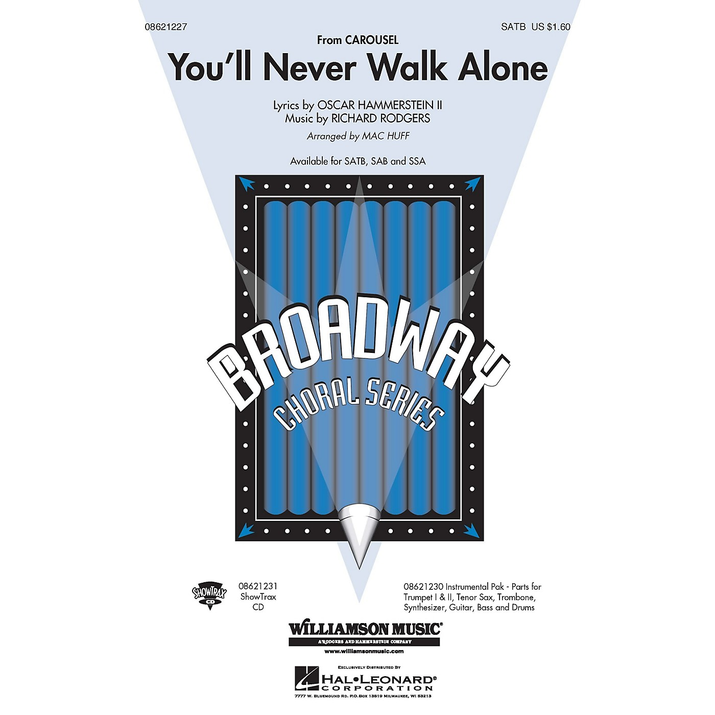 Hal Leonard You'll Never Walk Alone (from Carousel) (SATB) SATB arranged by Mac Huff thumbnail
