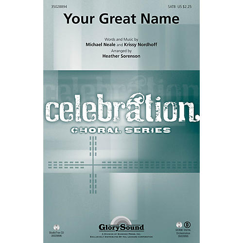 Shawnee Press Your Great Name Studiotrax CD Arranged by Heather Sorenson thumbnail