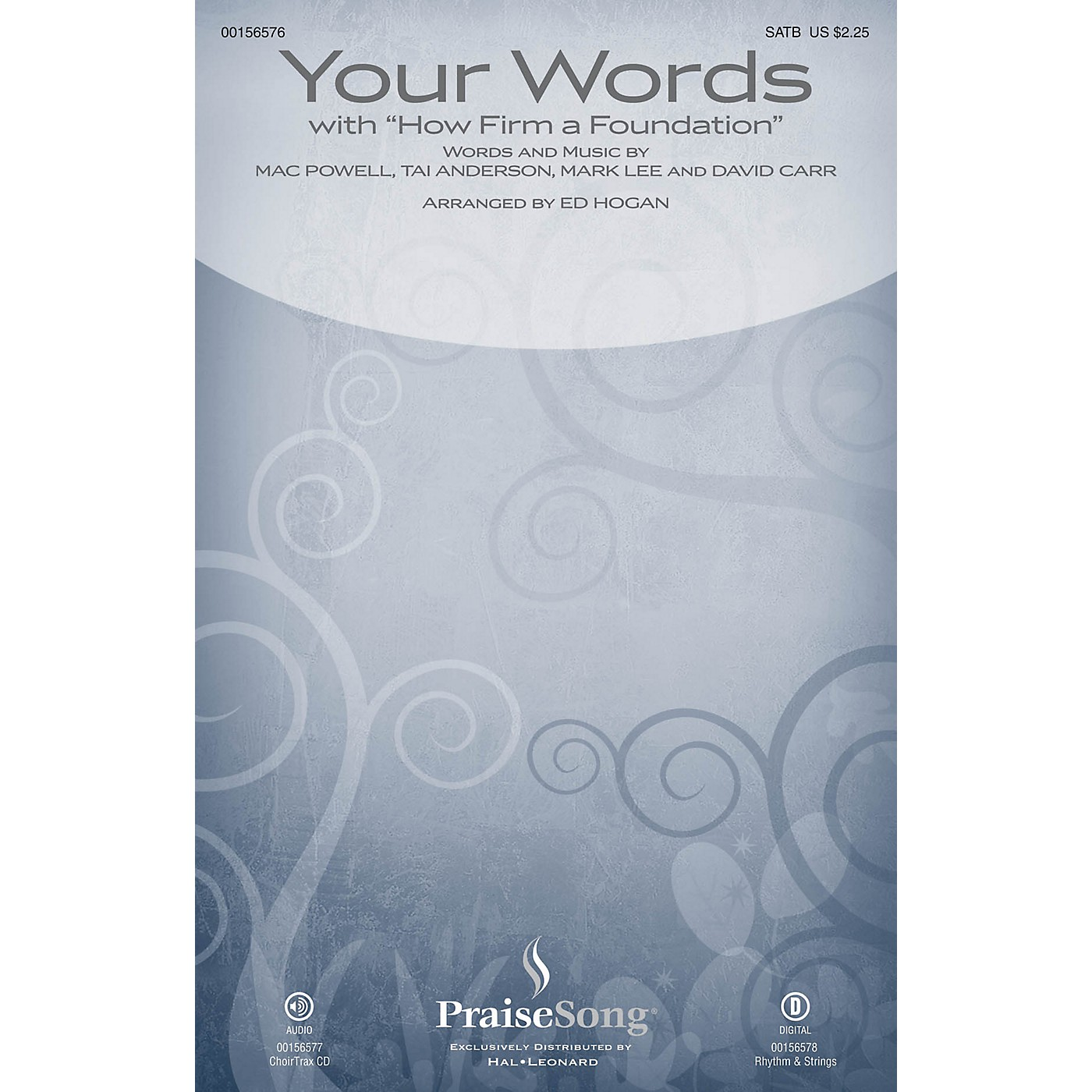 PraiseSong Your Words (with How Firm a Foundation) CHOIRTRAX CD by Third Day Arranged by Ed Hogan thumbnail