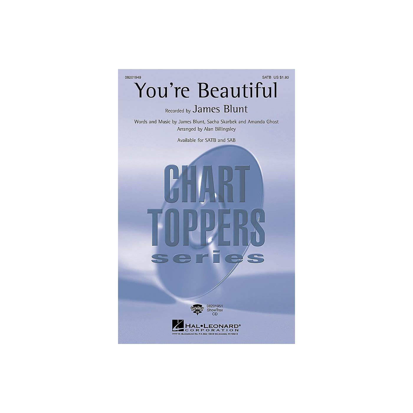 Hal Leonard You're Beautiful SATB by James Blunt arranged by Alan Billingsley thumbnail