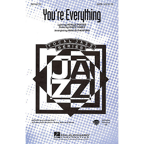 Hal Leonard You're Everything SATB arranged by Paris Rutherford thumbnail