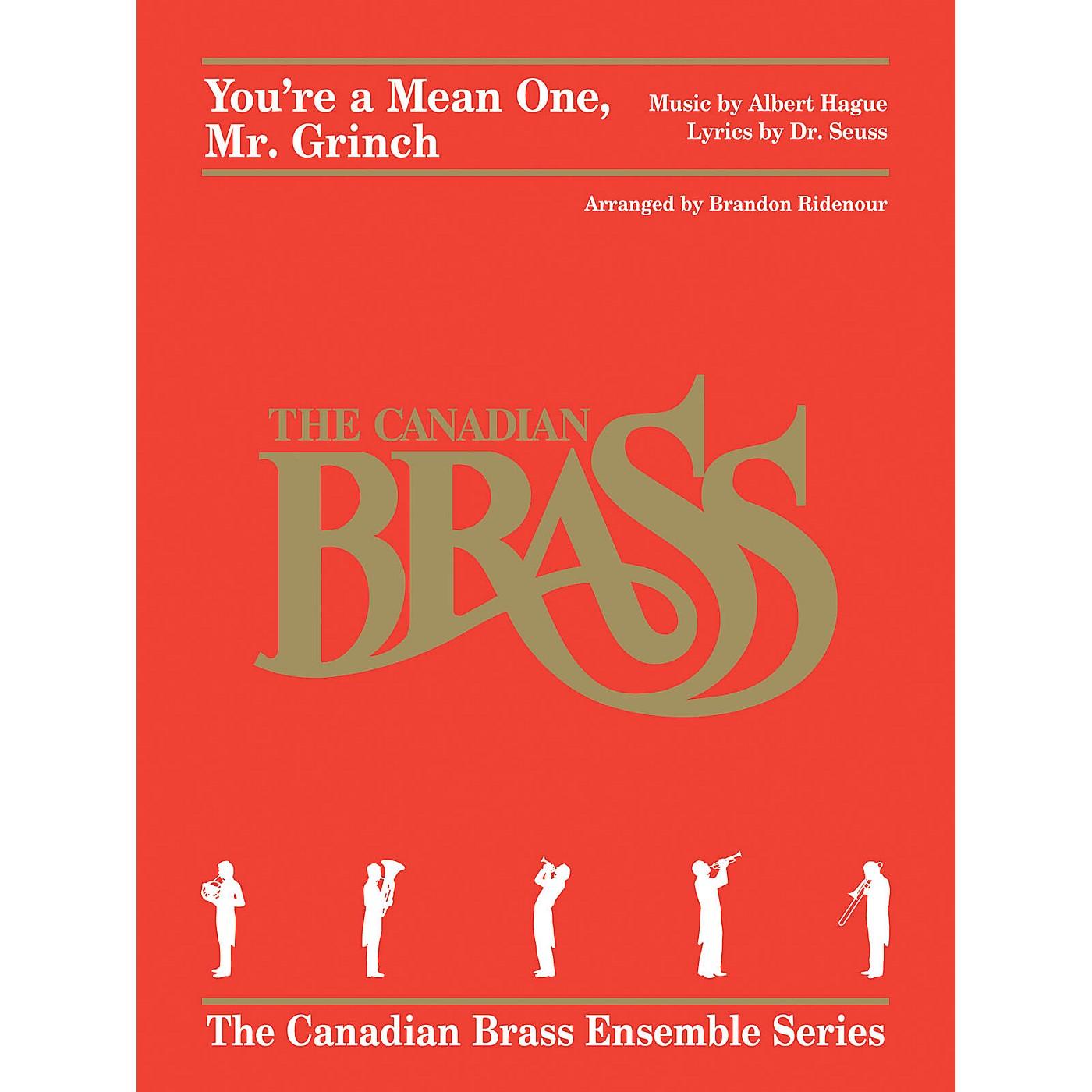 Canadian Brass You're a Mean One, Mr. Grinch Brass Ensemble Series by Albert Hague Arranged by Brandon Ridenour thumbnail
