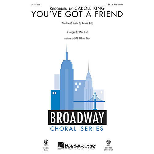 Hal Leonard You've Got a Friend 2-Part by Carole King Arranged by Mac Huff thumbnail
