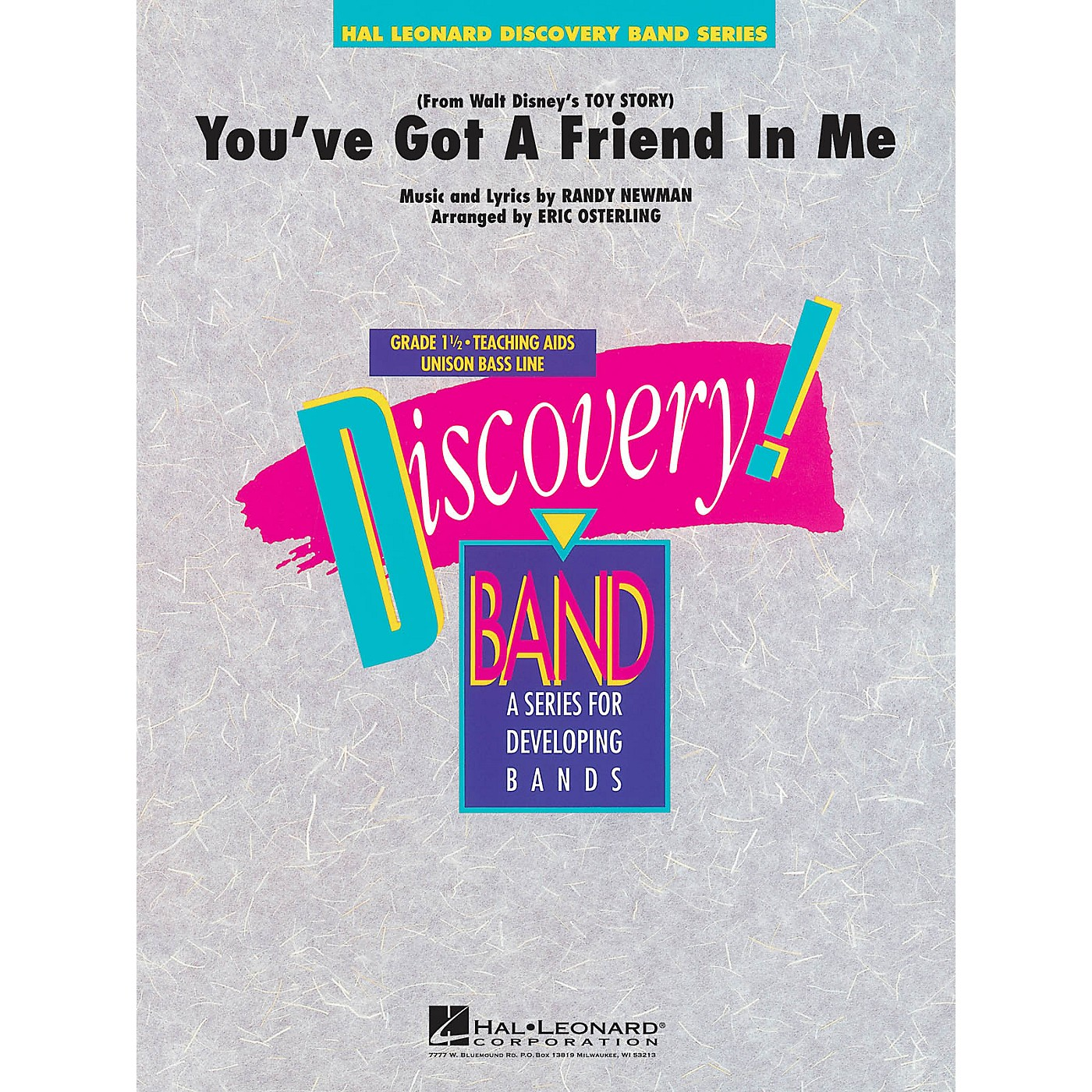 Hal Leonard You've Got a Friend in Me Concert Band Level 1.5 Arranged by Eric Osterling thumbnail