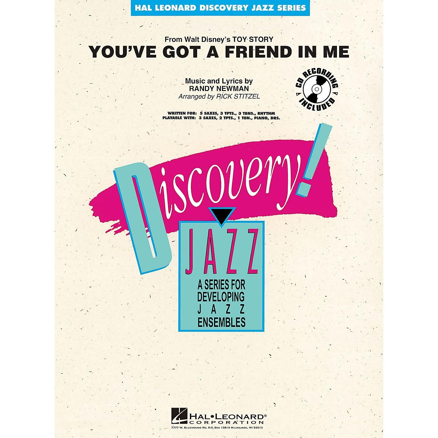 Hal Leonard You've Got a Friend in Me Jazz Band Level 1-2 Arranged by Rick Stitzel thumbnail