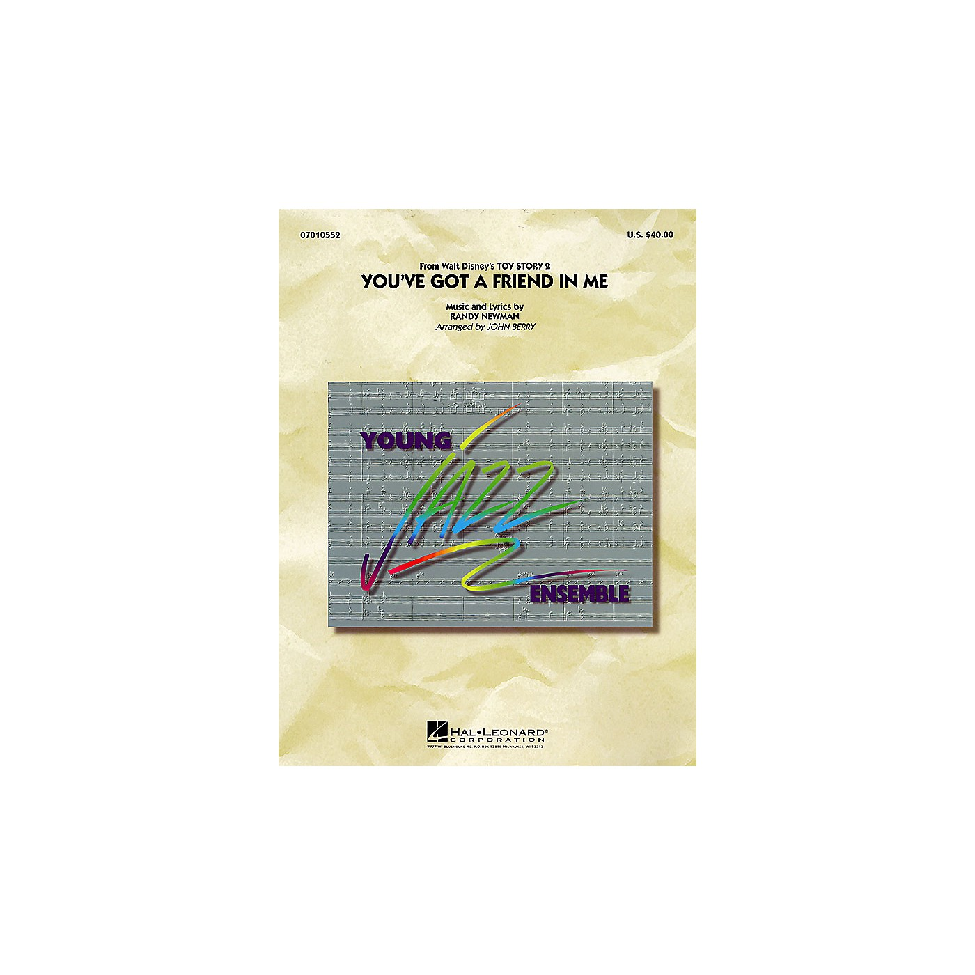 Hal Leonard You've Got a Friend in Me Jazz Band Level 3 Arranged by John Berry thumbnail