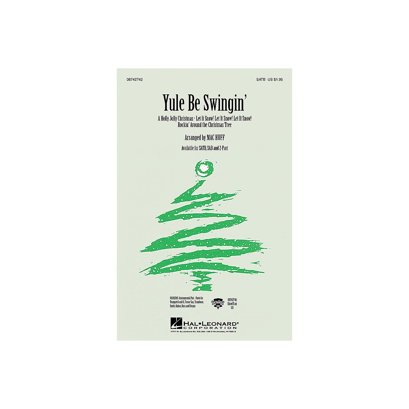 Hal Leonard Yule Be Swingin' (Medley) SATB arranged by Mac Huff thumbnail