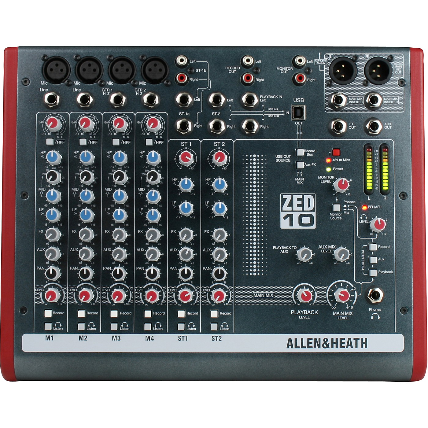 Allen & Heath ZED-10 10-Channel USB Mixer thumbnail