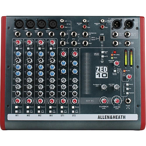 Allen & Heath ZED-10 10-Channel USB Mixer thumbnail