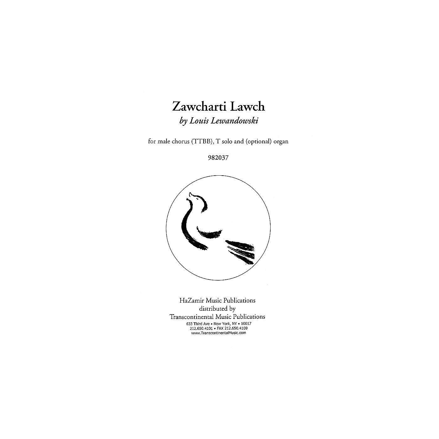 Transcontinental Music Zawcharti Lawch TTBB composed by Louis Lewandowski thumbnail
