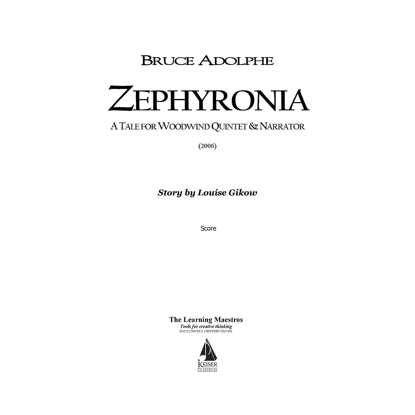 Lauren Keiser Music Publishing Zephyronia (for Woodwind Quintet) LKM Music Series by Bruce Adolphe thumbnail