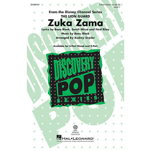 Hal Leonard Zuka Zama (Discovery Level 1) VoiceTrax CD Arranged by Audrey Snyder thumbnail