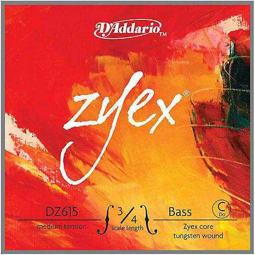 D'Addario Zyex Series Double Bass Low C (Extended E) String thumbnail