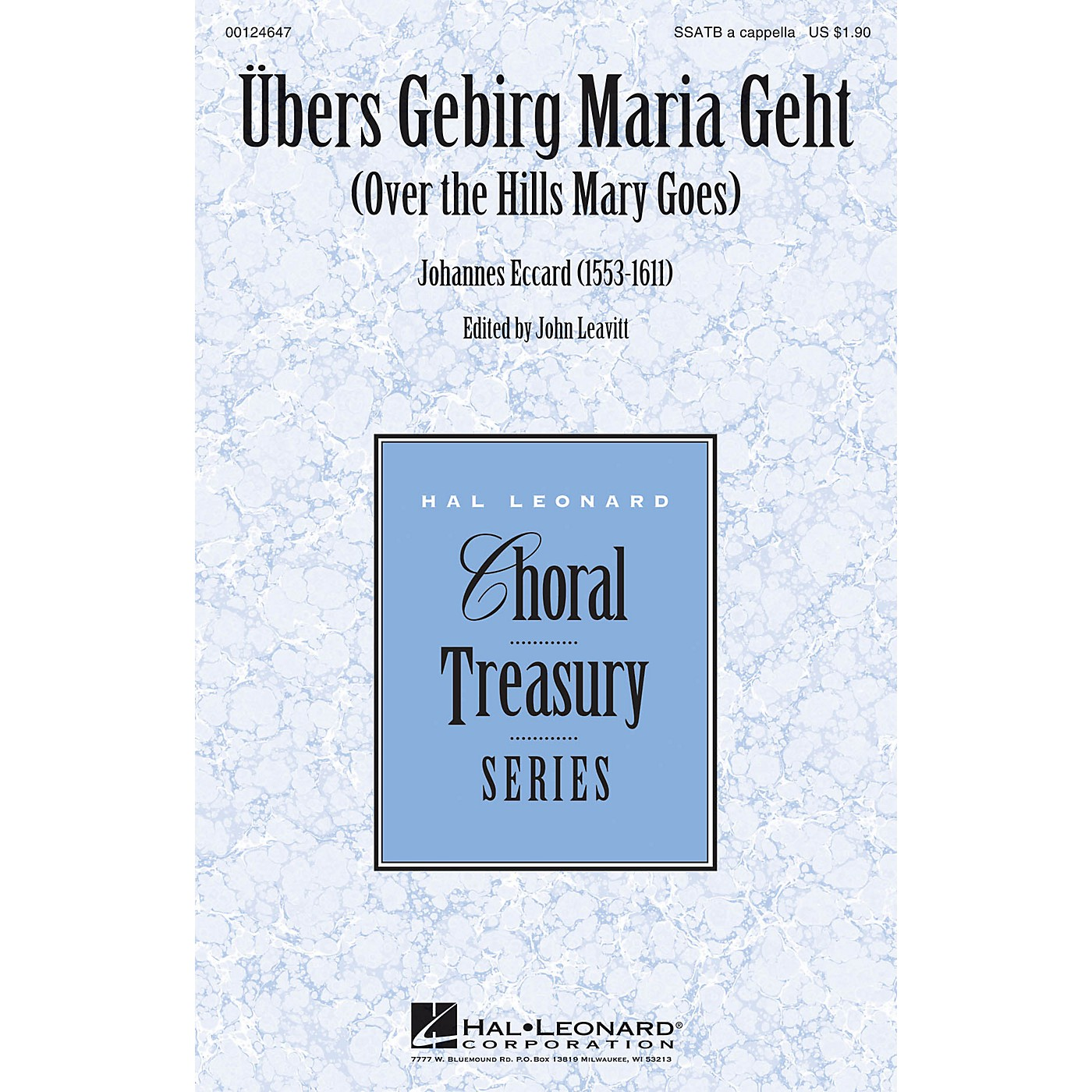 Hal Leonard Übers Gebirg Maria Geht (Over the Hills Mary Goes) SSATB A Cappella composed by Johannes Eccard thumbnail